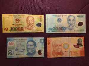 7 banknotes (face value)