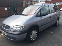 VAUXHALL ZAFIRA 1.6 12 MONTHS MOT GOOD CLEAN CAR 2001
