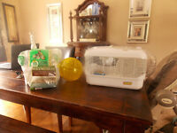 TEDDY BEAR HAMSTER WITH CAGE AND SUPPLIES