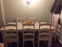 6-8seater table and chairs
