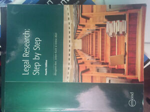 Legal Research: Step by Step Textbook
