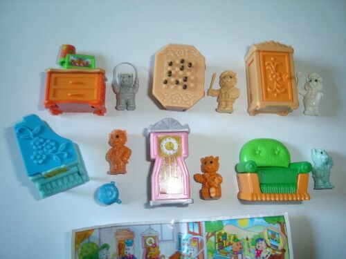 KINDER SURPRISE SET - CATS WITH FURNITURE - FIGURES TOYS MINIATURES COLLECTIBLES