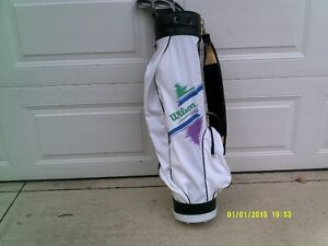 golf clubs irons and bag