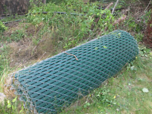 6Ft high chain link fence - 170ft long with green slats