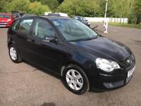 0909 Volkswagen Polo 1.2 ( 70ps ) Match Black 5 Door 60918mls MOT March 19