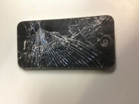 iPHONE 4S 8GB - Cracked Screen, Still Works Great