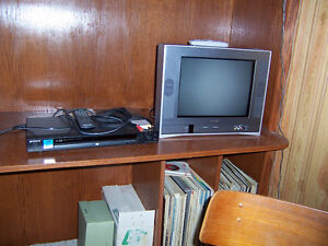 """Toshiba 14"""" T.V. and Sony DVD player"""