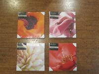 Photos de fleurs en gros plan - imprimées sur toile