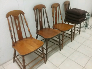 4 Small Antique Dining Chairs