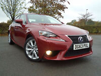 Lexus IS 300h 2.5 ( 181bhp ) E-CVT 2014MY Luxury Leather Satnav