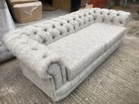 Chesterfield 3 seater and 2 seater in a next linen beige /brown fabric £799