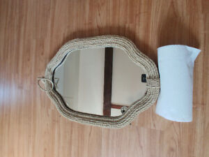 Nautical themed, nautical rope mirror. Barely used condition