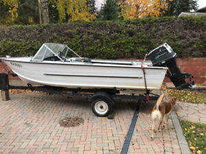 16' Starcraft aluminum boat with 70 hp Johnson outboard