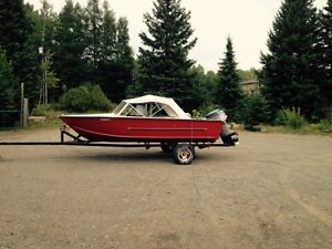 16' aluminum boat with 135hp evinrude