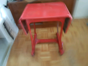 hospital medical industrial mid century modern fold out cart