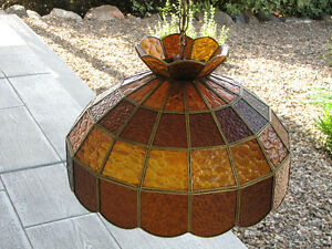 Stained Glass Pendant Light for Kitchen, Pool Table, Entry Hall