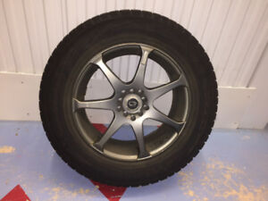 "Four 17"" Winter Tires on Rims - Used"