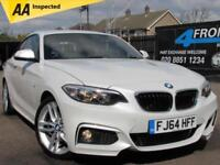 2014 BMW 2 SERIES 220D M SPORT 6 SPEED MANUAL 2DR COUPE 2.0 DIESEL COUPE DIESEL