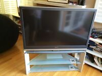 """50"""" sony LCD tv with matching stand and Apple TV"""