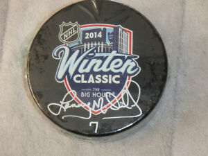 Lanny McDonald Autographed 2014 NHL Winter Classic Puck