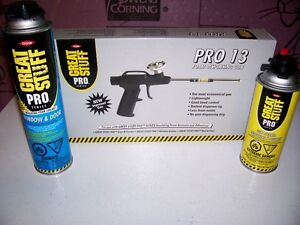 **NEW** GREAT STUFF INSULATING GUN WITH ACC