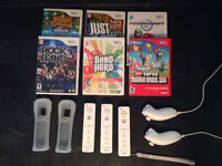 Nintendo Wii with Rock Band set and games!