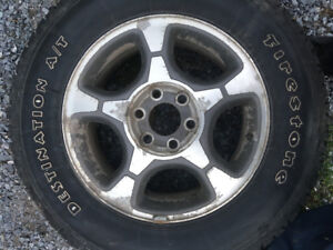 4 245 65 17 Firestone tires on Chevy trailblazer rims