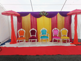 Wedding&mendhi stage hire from£250