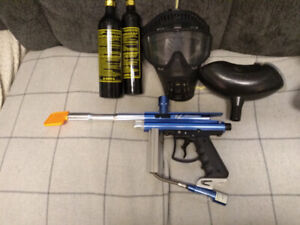 Paintball marker, CO2 tanks and accessories