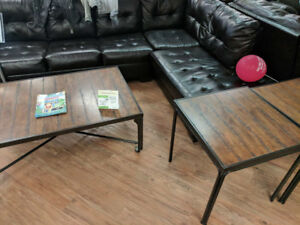 ASHLEY COFFEE AND END TABLE SETS STARTING AT $225.00 + TAX