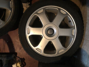 "Audi b5 S4 oem 17"" avus rims with winter tires"