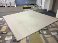Large Beige Area Rug 9x9ft