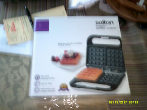 This is a Brand New Salton Belgian Waffle Maker. Plus More.