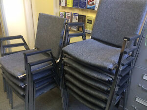 Like new stackable banquet chairs