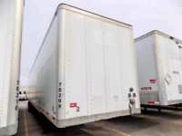 53' dry van & heater trailer rentals available for storage use.