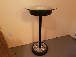 Table top tire clock