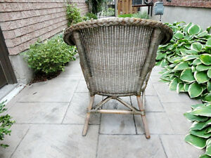 Solid Wicker Chair - Great for Sun porch, Deck, Cottage or Patio Kitchener / Waterloo Kitchener Area image 3