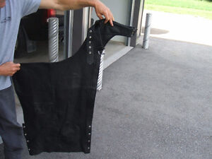 MOTORCYCLE RIDER LEATHER CHAPS PERFECT