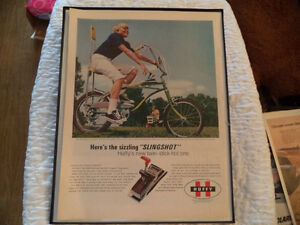OLD VINTAGE FRAMED BIKE ADS dragster