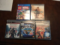 PS4 and PS3 Games (Lego Marvel, AC Rogue, Mortal Kombat, others)