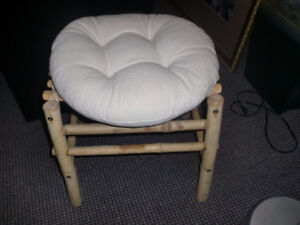 Home decor, PIER 1 Set of Bamboo stools with cushion, 17 inches