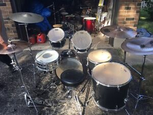 Black And Chrome Tama 6 Piece Drum Kit Kitchener / Waterloo Kitchener Area image 4