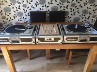 Technics 1200 mk2 full dj set up