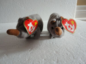 Set of 2 TY Spike the Rhinoceros beanie toy collectible New London Ontario image 1