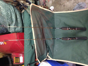 2   28 inch med/hvy ice fishing rods
