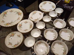 Minton S-501 York pattern, 6 full sets, 42 pieces