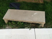 Concrete step approx 3' wide