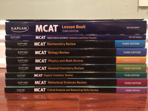 MCAT Kaplan 3rd Edition 7 Subject Review Books + Extra books!!