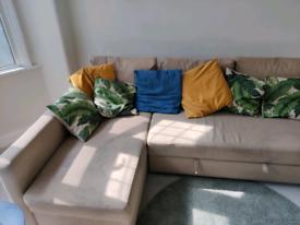 Ikea Friheten L-shaped corner sofa / sofa bed with storage