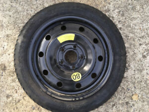 "16 inch spare tire/ donut.  24"" diameter. 5"" x 4.5"" bolt pattern"
